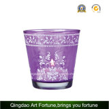 Votive Glass Holder with Wording for Tealight and Votive Candle