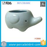 Cute Elephant Flower Pot Mini Ceramic Planter