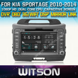 Witson Car DVD for KIA Sportage 2010-2014 Car DVD GPS 1080P DSP Capactive Screen WiFi 3G Front DVR Camera