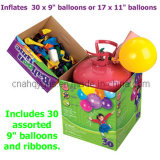 Disposable 30 Helium Tank with Balloons & Ribbon