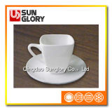Wholesale Custom Logo Porcelain Square Coffee Cup of Bd032