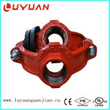 Dutile Iron Casting Mechanical Cross with BSPT Thread