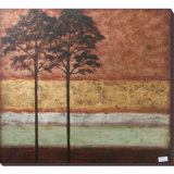 Fashion Design Hand Painted Modern Landscape Oil Tree Painting for Home Decor (LH-500993)