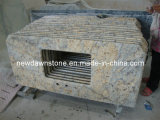 Diamond Flowers Beige Yellow Granite Vanity Countertops for Kitchen & Bathroom