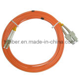 SC-LC MM Duplex Fiber Optic Patch Cord