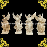 Yellow Marble Four Season God with Wing