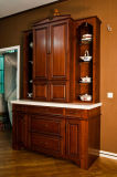 American Style Cherry Solid Wood Kitchen Cabinet (MGZY-001)