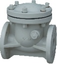 Plastic Check Valves, Swing Check Valves, Flange Connection