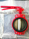 Red Colour Butterfly Valve with Ce ISO Certificate