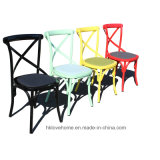 Wooden Dining Restaurant Coffee Wooden Cross Back Chair
