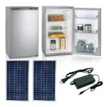 8L Capacity 55W Power Single Door up-Freezer Solar Upright Refrigerator