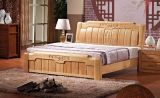 Solid Wooden Bed Modern Double Beds (M-X2240)