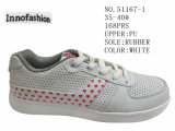 Two Colors PU Women Leisure Shoes