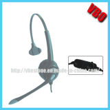 Call Center Headset Single Ear Telephone Headset with Noise Cancelling Mic