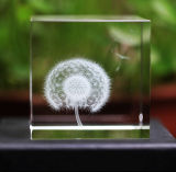 Decoration 3D Laser Engraving Crystal Cube Paperweight (KS11030)
