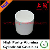 High Purity Alumina Cylindrical Crucible