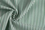 Green/White Classical Stripe Plain Polyester Cotton Shirt Fabric
