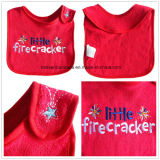 OEM Produce Customized Design Embroidered Cotton Terry Baby Bib