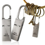 USB Flash Drive 64GB 32GB 16GB USB 3.0 Loop Pen Drives Waterproof Metal Lock Key Chain