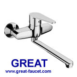 Wall-Mounted Brass Faucets for Kitchen
