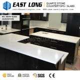 Cheap Whole Sparkling Big Grain White Artificial Quartz Stone  Slabs