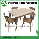 Oak Wooden Rectangle Dining Table with 4 Chairs