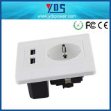 New Product for European Market Dual USB Electrical Wall Socket