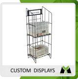 Design Professional Metal Wire Literature Display Shelves, Samples in 15 Days or Less