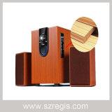 Wooden Multimedia Audio Subwoofer Bluetooth Speaker Combination