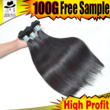10A Top Grade 100% Unprocessed Natural Human Hair Ponytail Straight