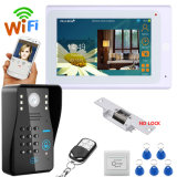 "7"" TFT Wired / Wireless WiFi RFID Password Video Door Phone Intercom System with Electric Strike Lock"