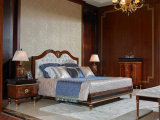0068 Dark Color Design European Style Bed Room Solid Wood Classical Bedroom Set Furniture