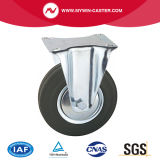 8 Inches Plate Fixed Rubber Industrial Caster