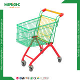 Colourful Powder Coating Kids Shopping Trolley for Supermarket