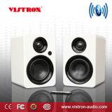 Bluetooth Bookshelf Speakers - Active Near-Field Studio Monitors - Powered Speakers 2.0 Setup Wooden Enclosure -2 X 30W
