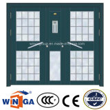 South Africa Hot Sale Steel Security Metal Glass Doors (W-GD-35)