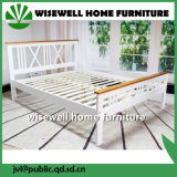 Pine Wood Latest Bi-Color Double Bed Designs (W-B-4031)