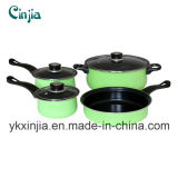 Kitchenware 7PCS Carbon Steel Non-Stick Cookware Set