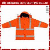 Wholesale Winter Orange Workwear Reflective Jackets (ELTSJI-21)
