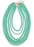 Fashion Statement Long Chain Beaded Bib Multi Strand Necklace