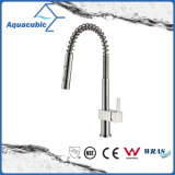 Flexible Single Handle Upc Pull out Kitchen Faucet