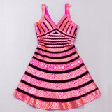 Latest fashion V Neck Flare Swing Dresses