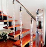 Fashine Crystal Glass Stair Railing Pillar Accessories for Home Decoration