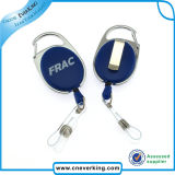 Promo Retractable Carabiner Yoyo ID Metal Badge Reel