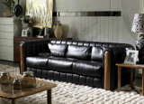 Leather Sofa 2013, Solid Wood, Fashion Leather Sofa (S1239)