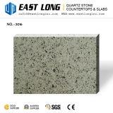 Grey Small Grain Artificial Quartz Stone Slabs /Quartz Stone Countertops