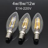 E14 LED Filament Lamp Glass Bulb 220V Retro Edison Candle