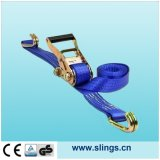 Ratchet Strap with Double J Hook and GS Certificate (5Tx6M)