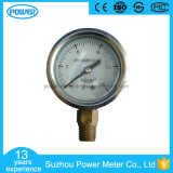 2inch-50mm Half Stainless Steel Bottom Thread Type Liquid Filled Pressure Gauge