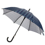 Outside Auto Open Grid Printing Straight Umbrella (JS-030)